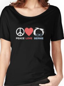 Peace, Love, Bernie Women's Relaxed Fit T-Shirt