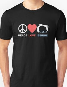 Peace, Love, Bernie Unisex T-Shirt