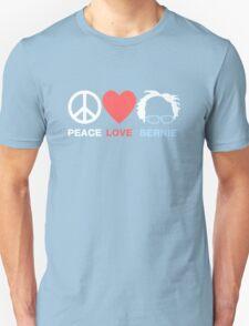 Peace, Love, Bernie Unisex T-Shirt