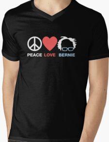 Peace, Love, Bernie Mens V-Neck T-Shirt