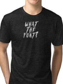 What The Font? Graffiti and Meatballs Tri-blend T-Shirt