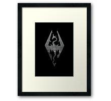 The Skyrim Symbol - Sky Background Detail NoFilter Framed Print