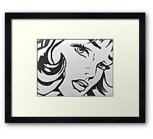 black and white girl  Framed Print
