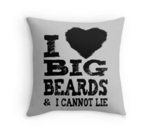 Love Big Beards Throw Pillow