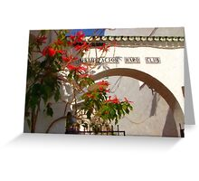 Spanish Arch and Flowers Greeting Card