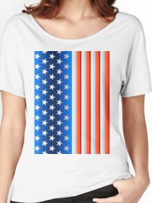 USA United States of America flag Women's Relaxed Fit T-Shirt