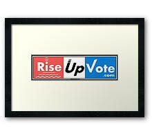 RiseUpVote.com3 Framed Print
