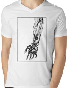 Arm Robot Mens V-Neck T-Shirt