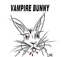 Vampire Bunny Photographic Print