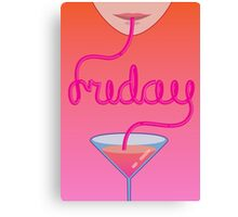 friday lettering Canvas Print