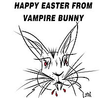 Happy Easter From Vampire Bunny Photographic Print