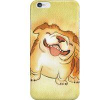 One Grinning Happy Bulldog iPhone Case/Skin