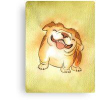 One Grinning Happy Bulldog Canvas Print