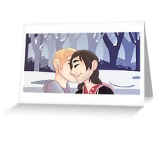 gays in winter Greeting Card