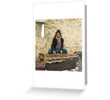 Mr Xylophone  Greeting Card