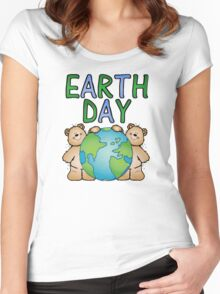 Earth Day Bears Women's Fitted Scoop T-Shirt