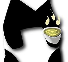 Panda loves Green Tea by Shumii