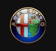 Alfa Romeo - 3D Badge on Black T-Shirt
