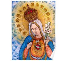 Immaculate Heart Of Virgin Mary Drawing Poster