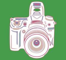 Cute Pastel Camera One Piece - Short Sleeve