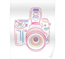 Cute Pastel Camera Poster