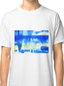 Blue Ink Abstract Painting Classic T-Shirt