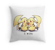 I love chu original colors Throw Pillow