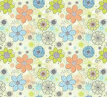 Floral Pattern #46  by tosnos