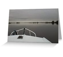 Voyage on Motionless Water Greeting Card