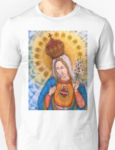 Immaculate Heart Of Virgin Mary Drawing Unisex T-Shirt