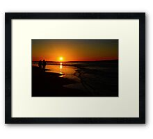 Sunset Promenade In California Framed Print