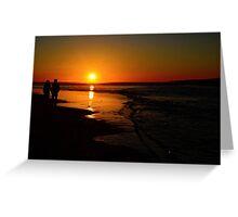 Sunset Promenade In California Greeting Card