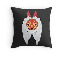Ghiblillustrated Princess Mononoke Print Throw Pillow