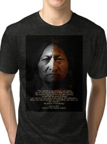 Sitting Bull Warrior quote. Poster Tri-blend T-Shirt