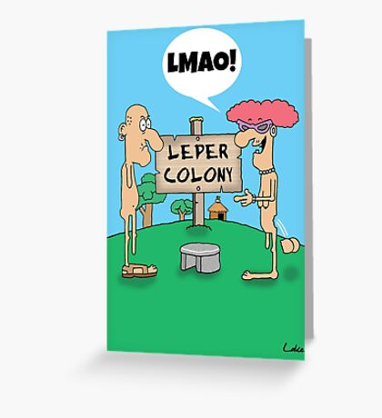 Funny Social Networking Cartoon Greeting Card