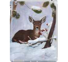 Holly Berry Deer Original Painting iPad Case/Skin
