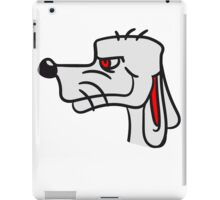 face head cool little funny dog with wig crazy sweet cute iPad Case/Skin