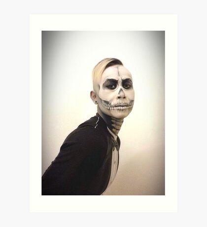 Halloween Skull and Tux Art Print