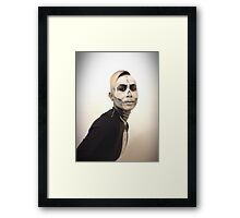 Skull and Tux Framed Print