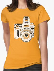 Black and White Camera Womens Fitted T-Shirt