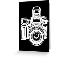 Black and White Camera Greeting Card