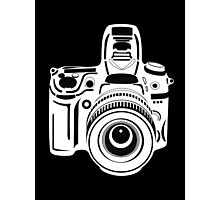 Black and White Camera Photographic Print