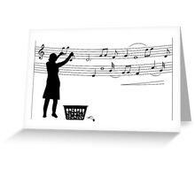 Making music Greeting Card
