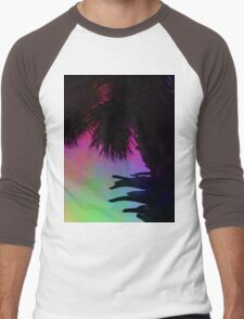 Palm Silhouette Men's Baseball ¾ T-Shirt