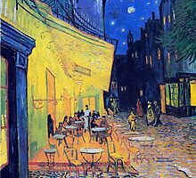 Vincent Van Gogh - Cafe Terrace at Night, Arles, France by lifetree