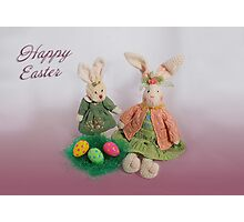 Easter Bunnies Photographic Print