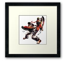 Street Fighter - Ken & Ryu Framed Print