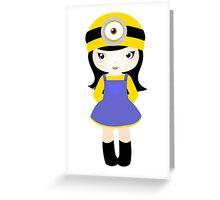 Minion girl Greeting Card
