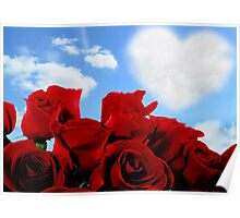 RED ROSE HEART Poster