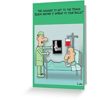 Funny Get Well Soon Greetings Greeting Card